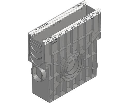 Hauraton Recyfix Plus 100 Einlaufkasten aus PP mit integriertem Metallprofil und Kunststoff Eimer 500 x 147 x 489 mm