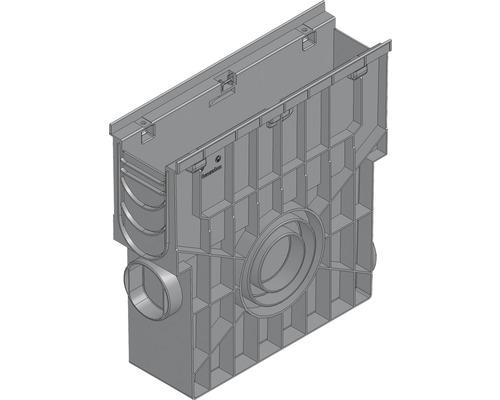 Hauraton Recyfix PRO 100 Einlaufkasten aus PP mit integrierter Zarge und Kunststoff Eimer 500 x 160 x 504 mm