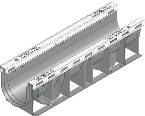 Hauraton Recyfix Plus 100 Rinnenunterteil Typ 0105 aus PP 500 x 147 x 135 mm