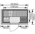 Elementsauna Karibu Sparset Mariado inkl. 9 kW Bio Ofen u.ext.Steuerung mit Dachkranz und bronzierter Ganzglastür