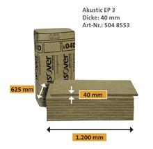 Estrichdämmplatte ISOVER Akustic EP3 Trittschalldämmung für schwimmende Estriche WLG 032 1250 x 600 x 40 mm