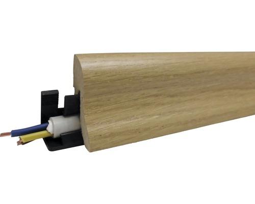 Sockelleiste furniert Eiche braunbeige 22x40x2600 mm