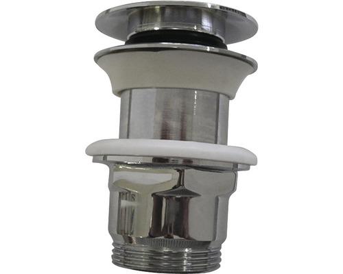 Schaftventil Klick Komfort 112/63 mm für Waschtische ohne Überlauf chrom