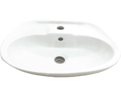 Handwaschbecken Kristallporzellan 45x32 cm weiß