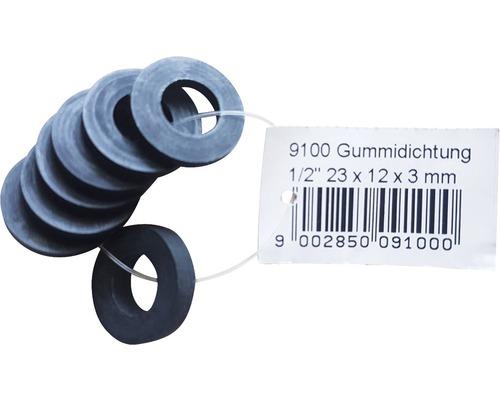 "Gummidichtung für Schalauchverschruabung 1/2"" 23x12x3 mm 8 Stück"