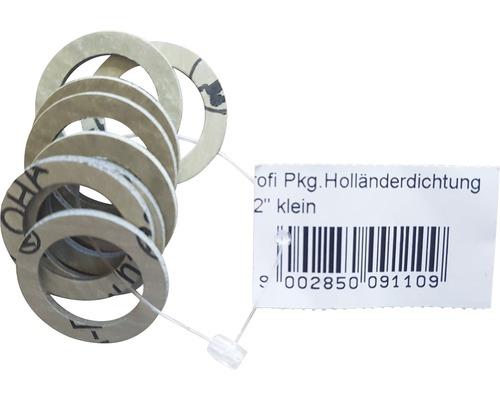 """Klingerit Holländerdichtung klein 1/2"""" 30x21x1,5 mm 8 Stück"""