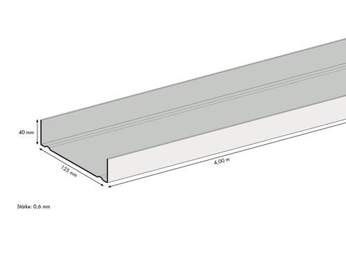 UW-Profil 125 x 40 x 0,6 mm, 400 cm