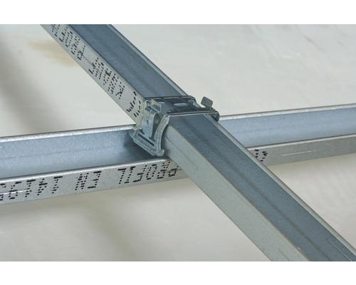 100 Stück Kreuzverbinder für CD-Deckenprofil Trockenbau