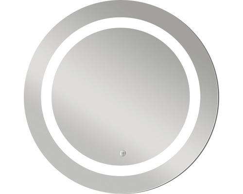LED-Lichtspiegel DSK Silver Sun mit Alurahmen Ø 59 cm