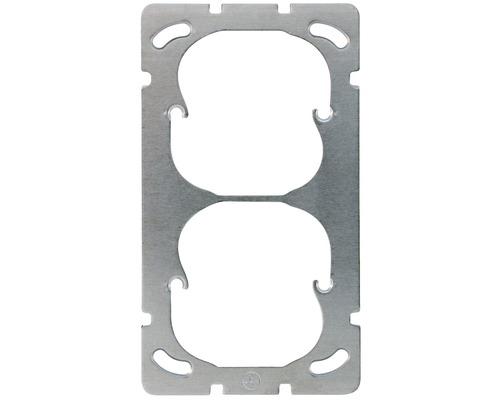 Montageplatte 2fach vertikal Edizio Due