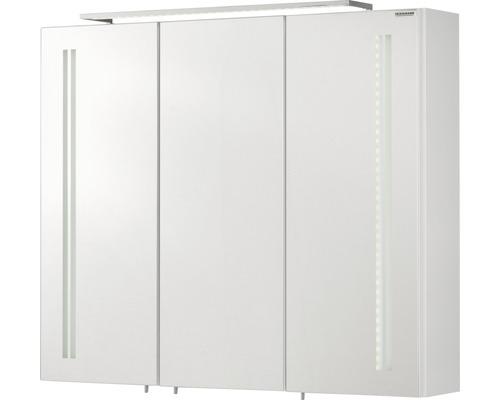 Spiegelschrank Fackelmann Lugano 80x68x16 cm 3-türig weiß