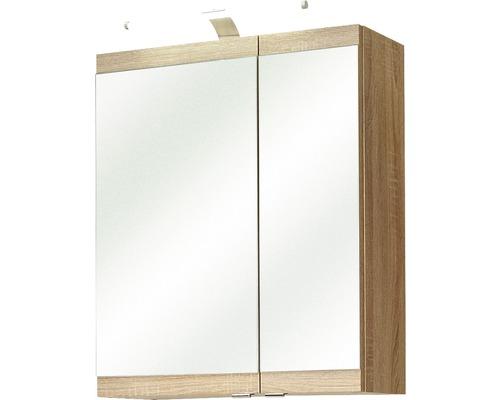Spiegelschrank Pelipal Luanda 60x70x20 cm 2-türig Eiche natur