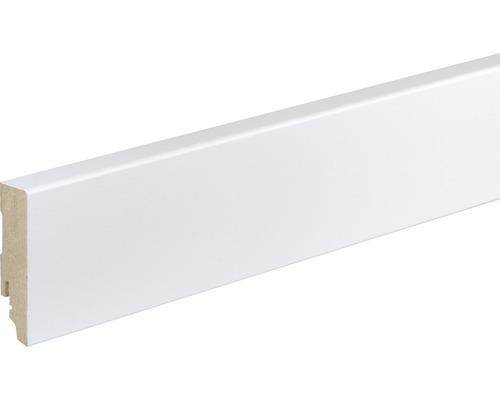 Sockelleiste FU87L MDF weiß lackiert 16x70 mm L:2400 mm