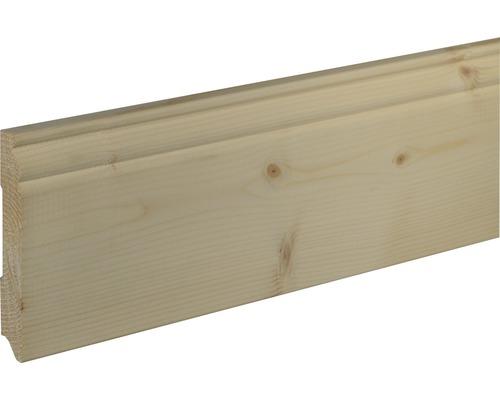 Sockelleiste SF 269 Fichte/Kiefer roh 18x120 mm L:2400 mm