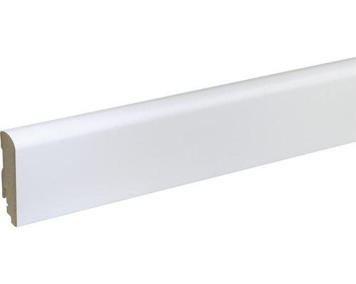 Sockelleiste FU088L MDF weiß lackiert 19x70 mm L:2400 mm