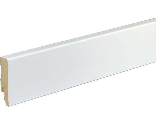 Sockelleiste FU86L MDF weiß lackiert 16x70 mm L:2400 mm