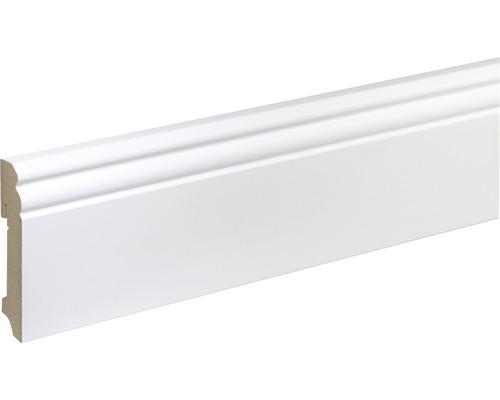 Sockelleiste FU094L MDF weiß lackiert 19x93 mm L:2400 mm