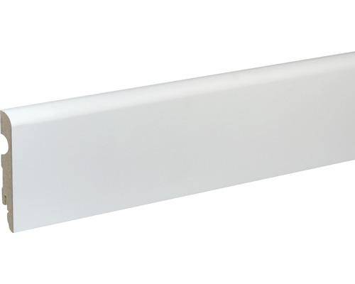 Sockelleiste FU91L MDF weiß lackiert 15x89 mm L:2400 mm