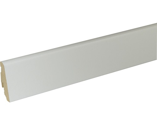 Sockelleiste FU60L MDF weiß lackiert 19x58 mm L:2400 mm