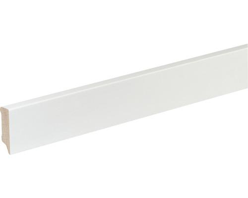 Sockelleiste S402 Buche weiß lackiert 12x40 mm L:2400 mm