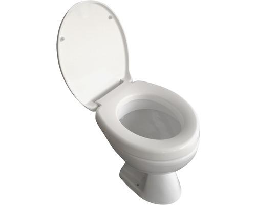 WC-Sitz Erhöhung ADOB Novara weiß mit Absenkautomatik