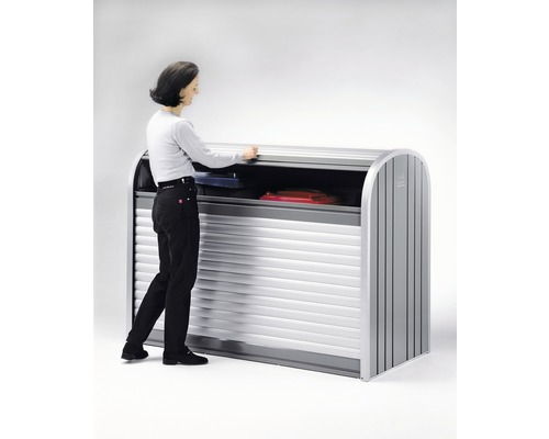 Mülltonnenbox biohort StoreMax 190, 190 x 97 x 136 cm, silber-quarzgrau
