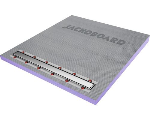 Duschelement Jackoboard Aqua Line Pro 1100x1000x70/43 mm inkl. Abflussrinne