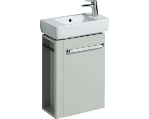 Waschbeckenunterschrank Geberit Renover Nr. Comprimo 862051 60,4x44,8x22,2 cm grau Türanschlag rechts ohne Waschbecken