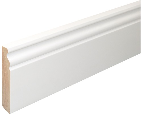 Sockelleiste SF380 Fichte weiß lackiert 18x96 mm L:2400 mm