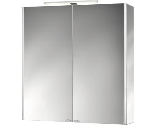 LED-Spiegelschrank Jokey DekorAlu 65,5x68x15,3 cm 2-türig alufarben