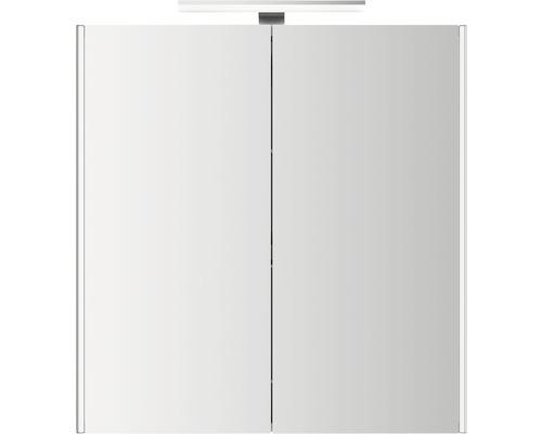 LED-Spiegelschrank Jokey DekorAlu 65,5x68x15,3 cm 2-türig weiß