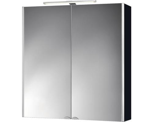 LED-Spiegelschrank Jokey DekorAlu 65,5x68x15,3 cm 2-türig schwarz