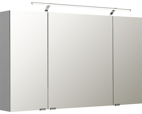 Spiegelschrank Pelipal Sunline 100 120x70x16 cm 3-türig weiß hochglanz