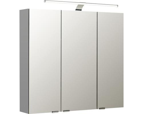 Spiegelschrank Pelipal Sunline 100 80x70x16 cm 3-türig weiß hochglanz