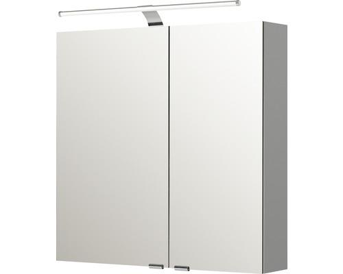Spiegelschrank Pelipal Sunline 100 70x70x16 cm 2-türig links weiß hochglanz