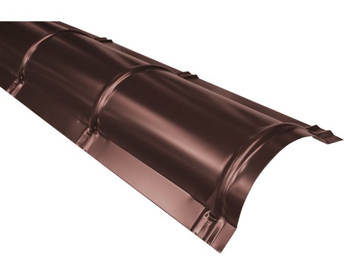 PRECIT Firstblech halbrund chocolate brown RAL 8017 2000 x 114 x 280 mm