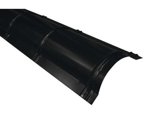 PRECIT Firstblech halbrund jet black RAL 9005 2 m