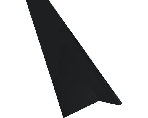 Precit Schürze für Mansarden außen, black RAL9005 1 m