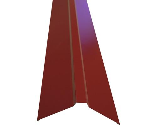 PRECIT Dachfirst gerade für Trapezblech brown red RAL 3011 2000 x 95 x 95 mm