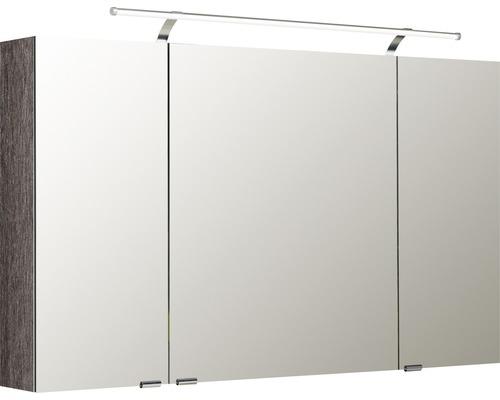 Spiegelschrank Pelipal Sunline 100 120x70x16 cm 3-türig graphit struktur quer