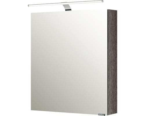 Spiegelschrank Pelipal Sunline 100 60x70x16 cm 1-türig links graphit struktur quer