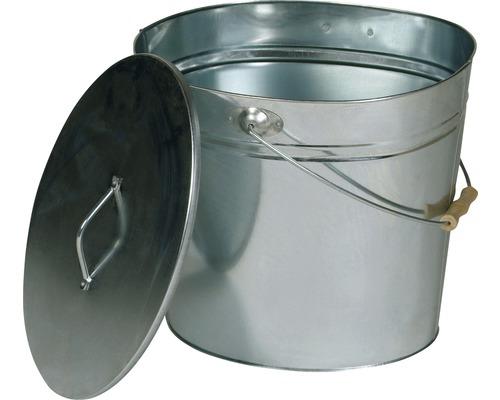 Ascheeimer Lienbacher oval 24 Liter verzinkt