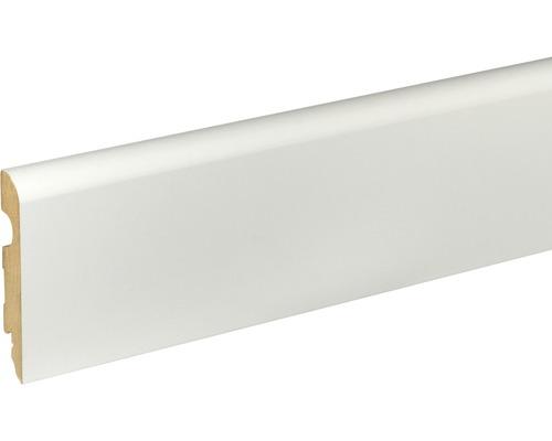 Sockelleiste MDF Weiß grundiert 89x14,5x2400 mm