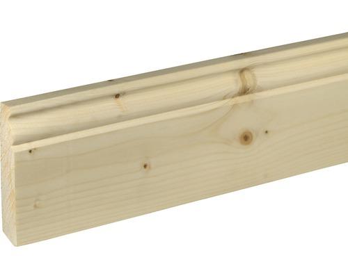 Sockelleiste Fichte/Tanne unsortiert 18x96 mm L:2000 mm