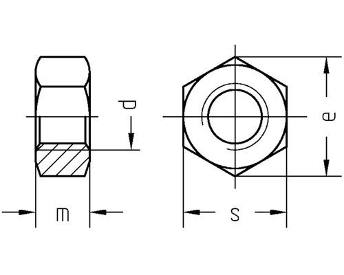 Sechskantmutter DIN 934, M8 Polyamid 50 Stück