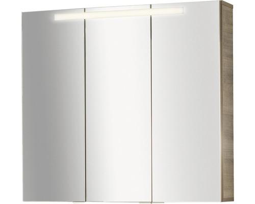Spiegelschrank Fackelmann Piuro 79,5x73,5x17 cm 3-türig graueiche