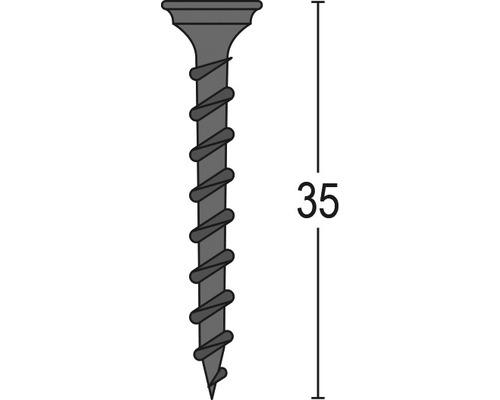 Knauf Schnellbauschrauben Black Star TN 4x35 mm