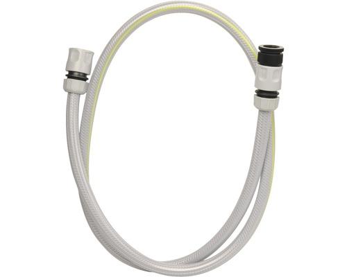 Anschlussgarnitur for_q für Schlauchwagen 1/2 Zoll Silikon 1,5 m grau-schwarz