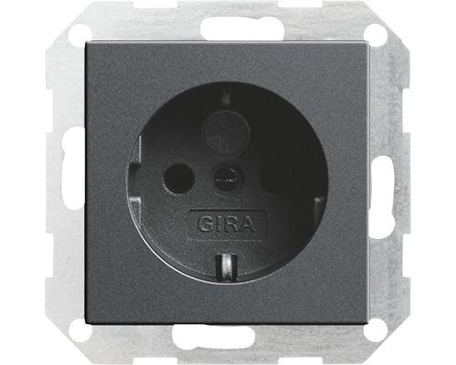Steckdosen-Einsatz mit Topf Abdeckung und Berührungsschutz, Gira Standard 55 anthrazit