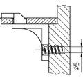 Euroschrauben Senkkopf verzinkt 6,3 x 16 mm x L 16 mm, 100 Stück